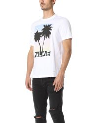 PS by Paul Smith - White Palme Print Tee for Men - Lyst
