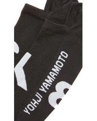 Y-3 - Black Logo Invisible Socks for Men - Lyst