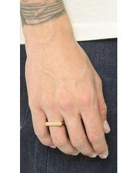 Miansai - Metallic Flat Top Ring for Men - Lyst