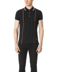 DSquared²   Black Tartan Stripe Polo for Men   Lyst