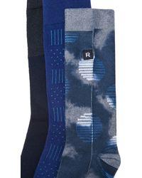 Richer Poorer - Blue 3 Pack Socks for Men - Lyst