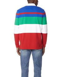 Polo Ralph Lauren - Red Utility Jersey Rugby Shirt for Men - Lyst