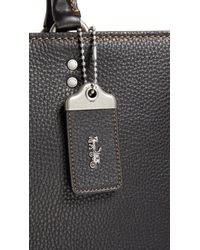 COACH - Black Rogue Briefcase for Men - Lyst