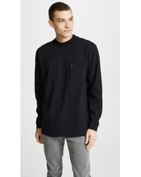 b0f34fc9ca67 Lyst - Fred Perry High Neck T-shirt in Black for Men