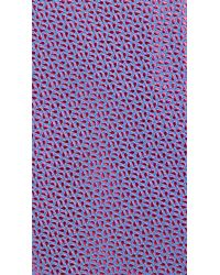 HUGO - Red Microprint Tie for Men - Lyst