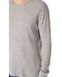 Rag & Bone - Gray Standard Issue Waffle Crew Tee for Men - Lyst
