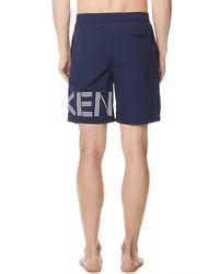 KENZO - Blue Medium Shorts for Men - Lyst