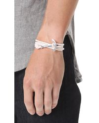 Miansai - Metallic Modern Anchor Rope Wrap Bracelet for Men - Lyst
