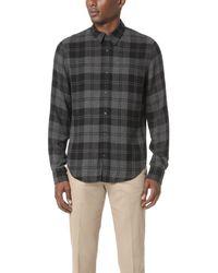 Vince - Black Two Tone Plaid Shirt for Men - Lyst
