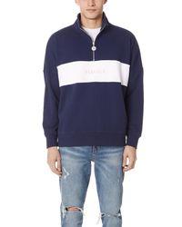 Penfield - Blue Hosmer Half Zip Sweatshirt for Men - Lyst
