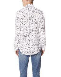 KENZO White Contemporary Slim Fit Shirt for men