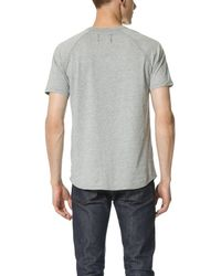 Reigning Champ - Gray Raglan Tee for Men - Lyst