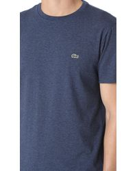 Lacoste - Blue Short Sleeve Pima Crew Neck Tee for Men - Lyst