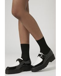 TOPSHOP - Black Kylie Chunky Monk Shoes - Lyst