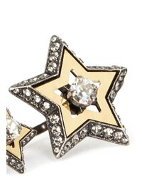 Lanvin | Gray Double Star Two-finger Ring | Lyst