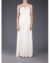 AKIRA - White Shibori Long Dress - Lyst