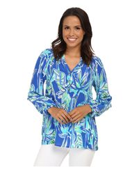 Lilly Pulitzer | Blue Printed Elsa Top | Lyst