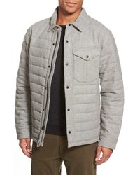 Relwen | Gray Quilted Field Jacket for Men | Lyst