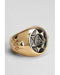Black Scale | Metallic Seventh Star Ring for Men | Lyst