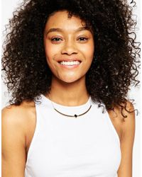 ASOS | Metallic Enamel Cut Out Necklace | Lyst