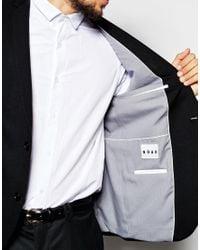 Noak | Jersey Blazer In Super Skinny Fit - Black for Men | Lyst