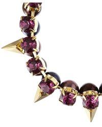Joomi Lim - Purple Crystal Pearl Vicious Love Bracelet - Lyst