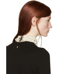 Simone Rocha | Natural Two-row Pearl Choker | Lyst