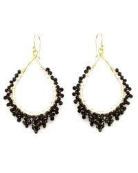 Nakamol | Multicolor Crystal Tears Earrings-black | Lyst