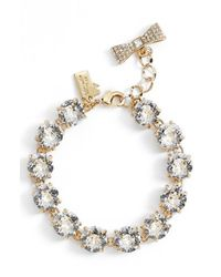 Kate Spade | Metallic 'fancy That' Line Bracelet - Clear | Lyst
