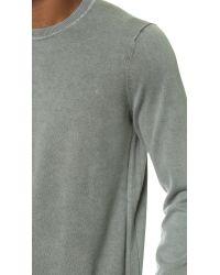 Rag & Bone | Gray Standard Issue Crew Sweater for Men | Lyst