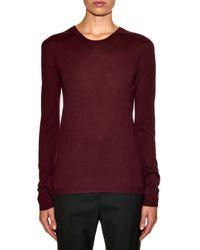 Jil Sander | Red Cashmere And Silk-blend Fine-knit Sweater | Lyst