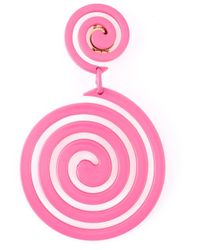 Moschino | Pink Swirl Clip On Earrings | Lyst