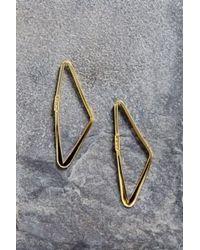 Adina Reyter - Metallic Small Right Angle Hoop Earring - Lyst