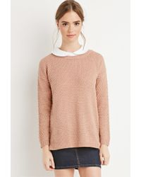 Forever 21 - Purple Textured Knit Sweater - Lyst
