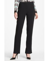 Lafayette 148 New York | Black 'bleecker - Finesse Crepe' Pants | Lyst
