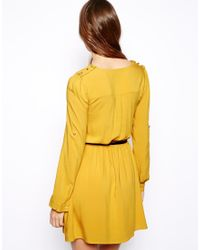 Oasis - Yellow Exclusive Shirt Dress - Lyst