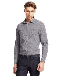 Kenneth Cole | Gray Saturated Check Poplin Sportshirt for Men | Lyst