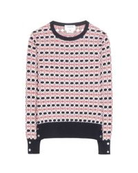 Thom Browne - Pink Float Cashmere Jacquard Sweater - Lyst