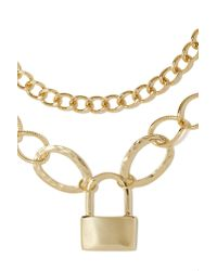 Nasty Gal | Metallic Lock Up Necklace | Lyst