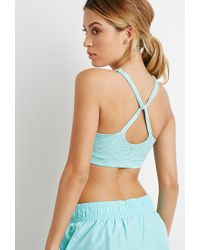 Forever 21 | Green Medium Impact - Space Dye Sports Bra | Lyst
