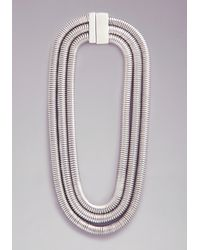 Bebe | Metallic Coil Wrapped Short Necklace | Lyst