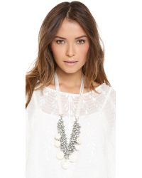 By Malene Birger | White Olias Necklace | Lyst