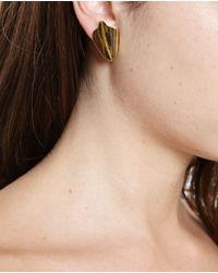 Loewe - Metallic Small Leaf Earrings - Lyst