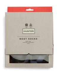 HUNTER - Black Boot Socks - Lyst