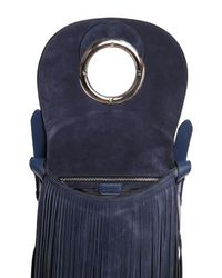Emilio Pucci - Blue Janis Fringed Suede Shoulder Bag - Lyst
