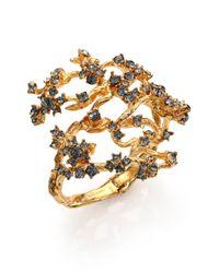 Alexander McQueen | Metallic Crystal Cherry Blossom Bracelet | Lyst
