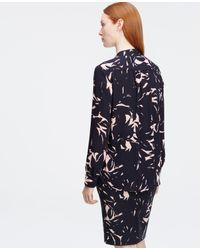 Ann Taylor - Pink Petite Floral V-neck Blouse - Lyst