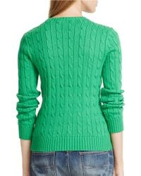 Polo Ralph Lauren | Green Cotton Crewneck Sweater | Lyst