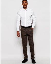 ASOS - Brown Slim Smart Trousers In Harris Tweed for Men - Lyst