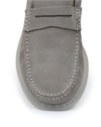 G.H. Bass & Co. | Gray Keane Suede Penny Loafers for Men | Lyst